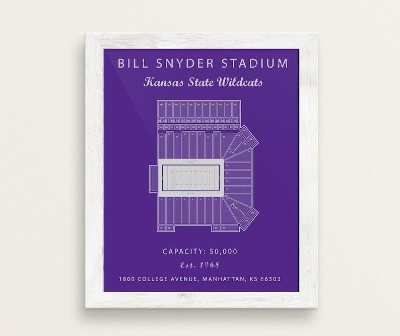 Bill Snyder Stadium Seating Chart Kansas State Wildcats Kansas State University Kansas State Football Bill Snyder Blueprint Vintage