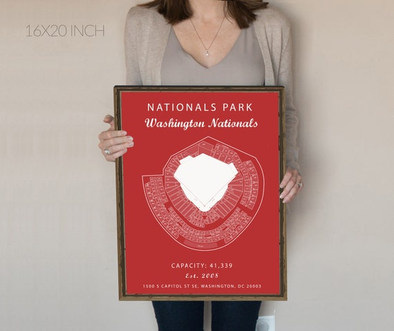 Nationals Park Seating Chart Washington Nationals Nationals Park Sign Washington Dc Art Mlb Baseball Art Work Poster Nationals Gift
