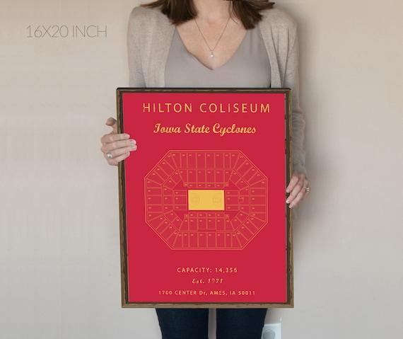 Hilton Coliseum Seating Chart Iowa State Cyclones Hilton Coliseum Sign Iowa State University Hilton Coliseum Prints Vintage Cyclones