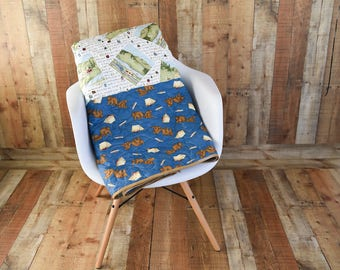 Adorable Queen size Quilt, made for the Outdoor person, perfect for camping with the Wilderness family