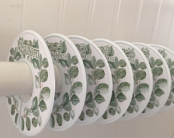 Baby Closet Dividers Organizers Clothes Dividers Greenery Leaves Baby Nursery Decor Baby Shower Gift
