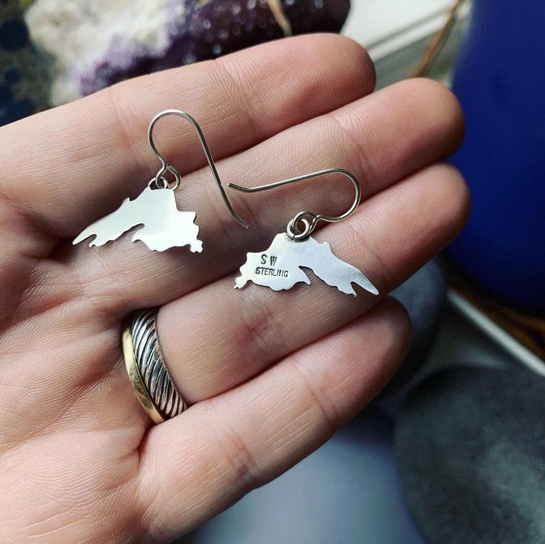 Lake Superior sterling silver earrings