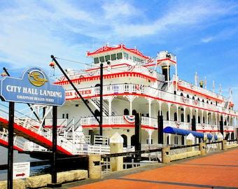 The Georgia Queen Riverboat In Savannah, Ga     11 X 14
