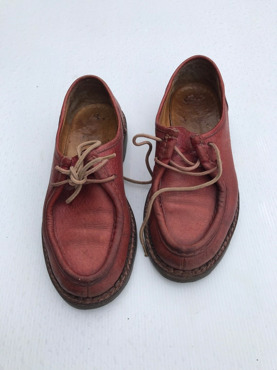 1980s dark red derby shoes /  oxford shoes / Octa… - image 2