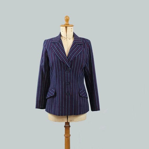 1970 striped Blazer bleu blanc rouge / 70s stripes