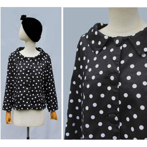1990S  Hippocampe Paris polka dots cotton jacket /