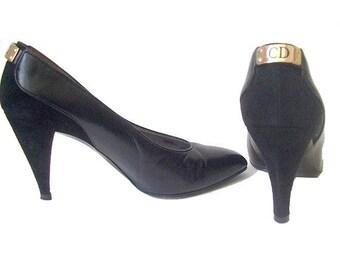 Vintage Dior black Pumps /Christian Dior shoes / vintage Dior Heels 5
