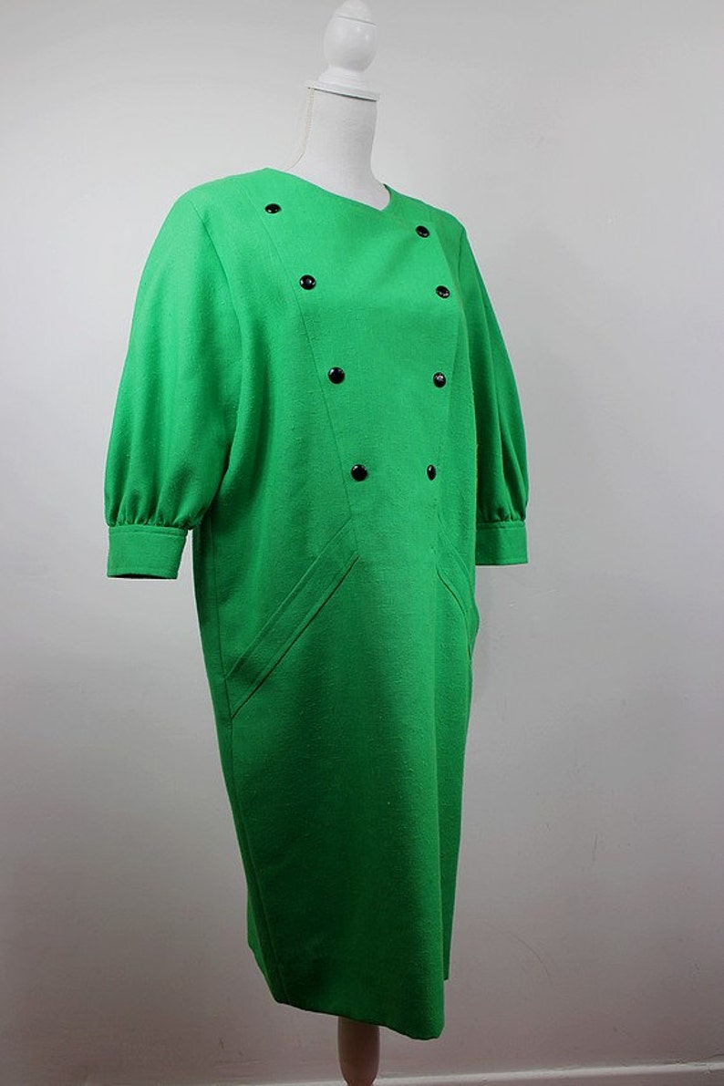 1980 PIERRE CARDIN CREATION  green dress  large