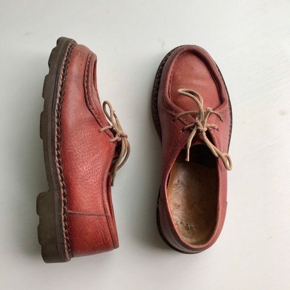 1980s dark red derby shoes /  oxford shoes / Octa… - image 1