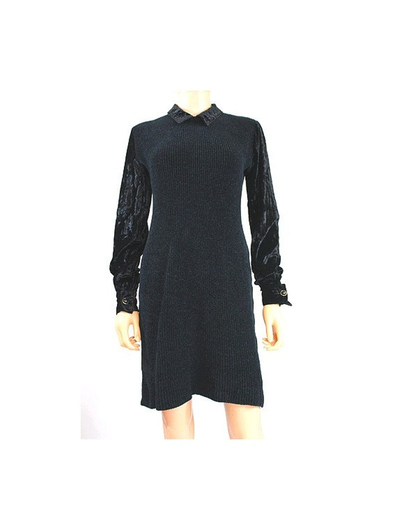 8dd3fddd89 Vintage noir Chantal Thomass robe à manches longues | Etsy