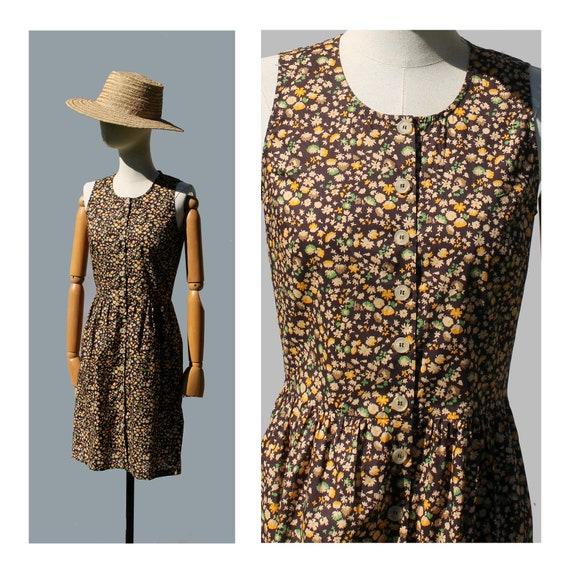 Vintage Cacharel Liberty floral dress sleeveless/
