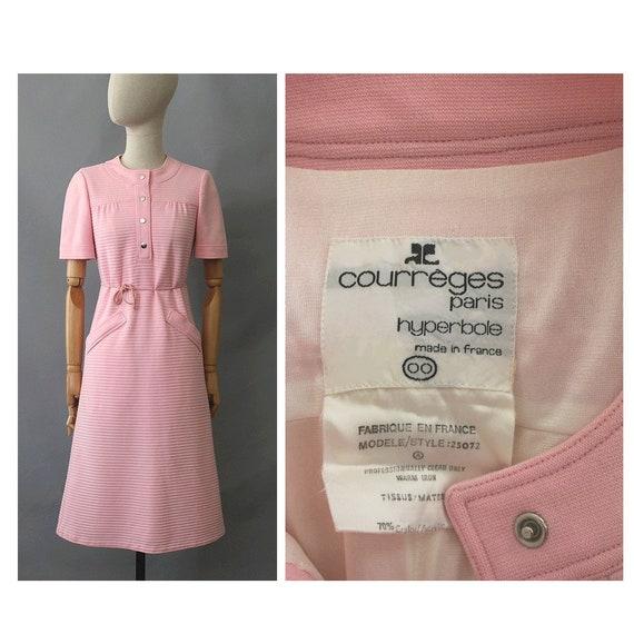 1970s Courrèges pink Dress / 70s Courrèges ligne H