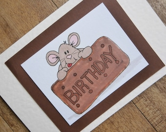 Bourbon Biscuit Birthday card