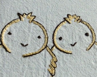 Chick a dee do daw day - Hand Embroidery Pattern PDF