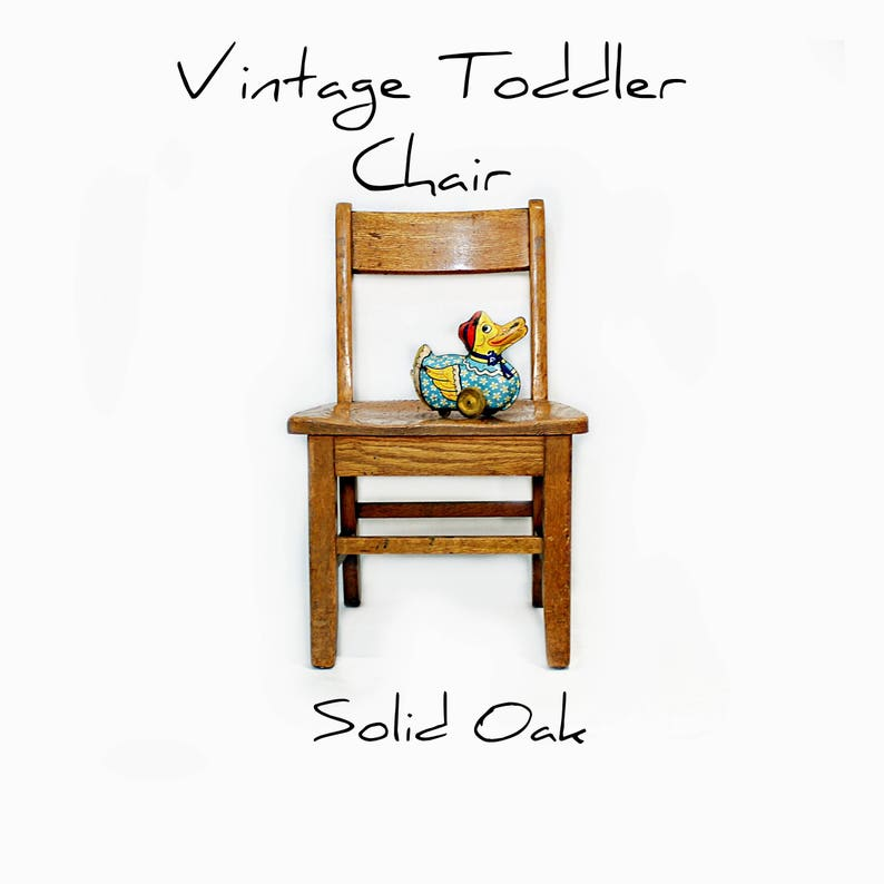 Fabulous Vintage Wooden Toddler Chair Preschool Chair Toddler Seat Slat Back Solid Oak Vintage Baby Room Time Out Chair Dailytribune Chair Design For Home Dailytribuneorg