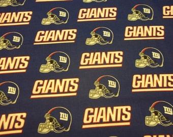 NEW YORK Giants - Nfl Football Fabric 1 Half Yard Piece 100% Cotton 36eabe8dc