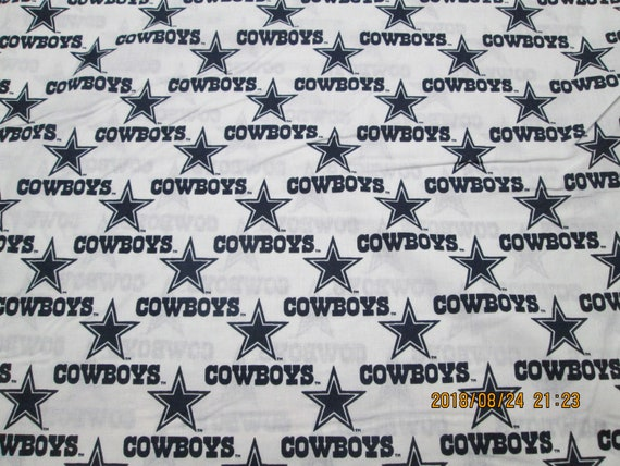 "DALLAS COWBOYS 18/"" X  58/"" WIDE 100/%  COTTON DESIGN BLUE 1//2 YD PIECE /""BRAND NEW/"""