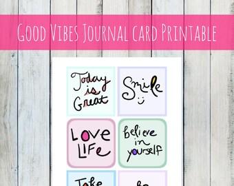 INSTANT DOWNLOAD Journal Cards printable art journal cards for journals, notebooks, diary, digital art, scrapbook, photo album