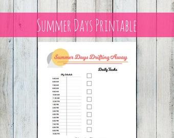 2018 Planner Printable Digital download printable planner to track your to-do list daily tasks bullet journal planner 2018