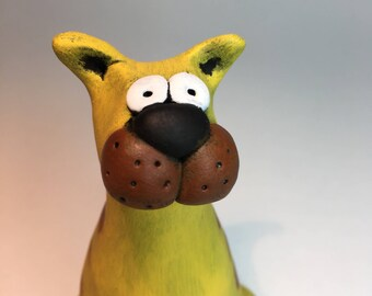 Yellow Cat Sculpture