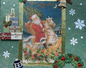 Christmas Decor: Collage Art (Jolly Old St. Nick)