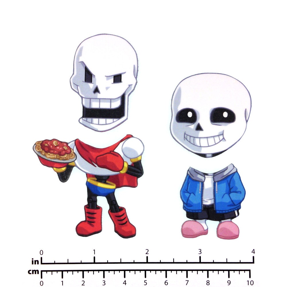 Mix and Match Magnets: Sans, Papyrus (Skeleton Brothers Set)
