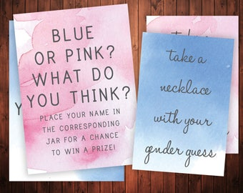 INSTANT DOWNLOAD Gender Reveal Party Signs - Diamonds or Diamonds Decoration - Baseball or Jewels Gender Guessing Game- What's the sex party