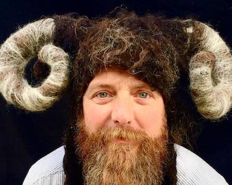 Aries Ram Horn Pagan Headdress