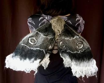 Dark Gothic Moth Costume Wings