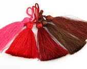 5 pcs Colorful Silk Thread Tassels - Jewelry Supplies // TAS-016