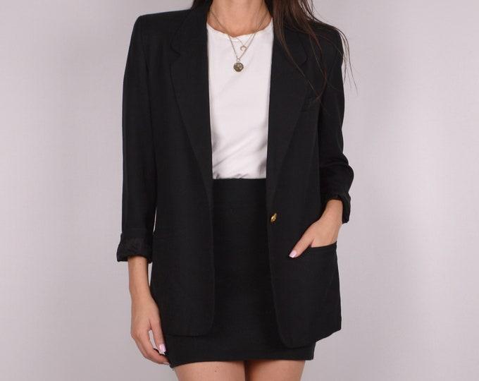 Vintage Perfect Fit Black Blazer / S