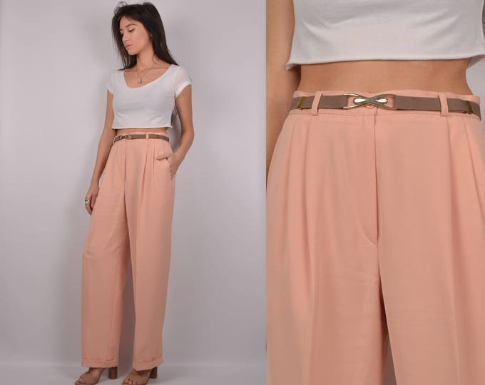 "SALE Vintage Peach Trousers / high waist 29""W"