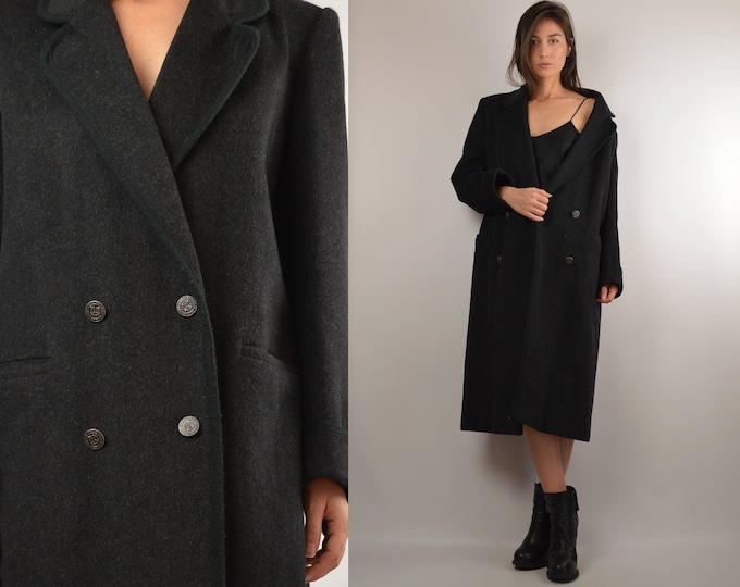 SALE Vintage Gray Wool Winter Coat