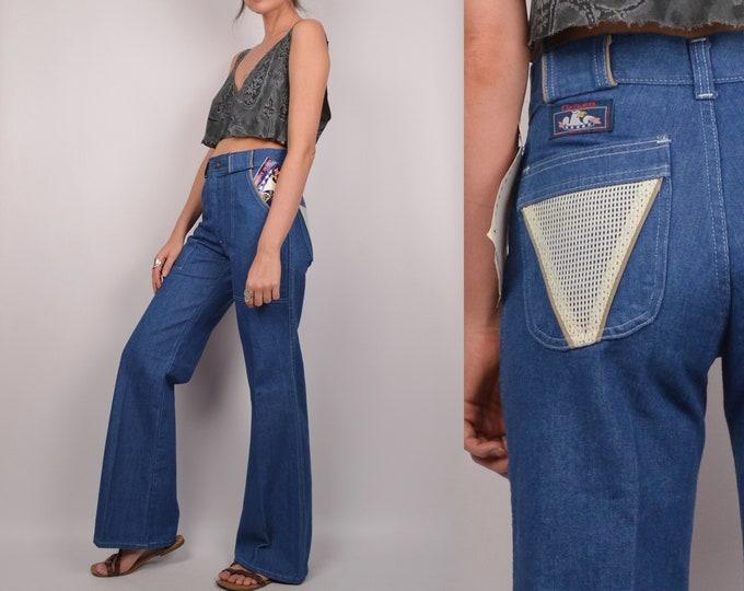 70's Wide Leg Flare Jeans vintage