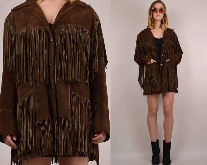 Vintage 70's Suede Fringe Jacket