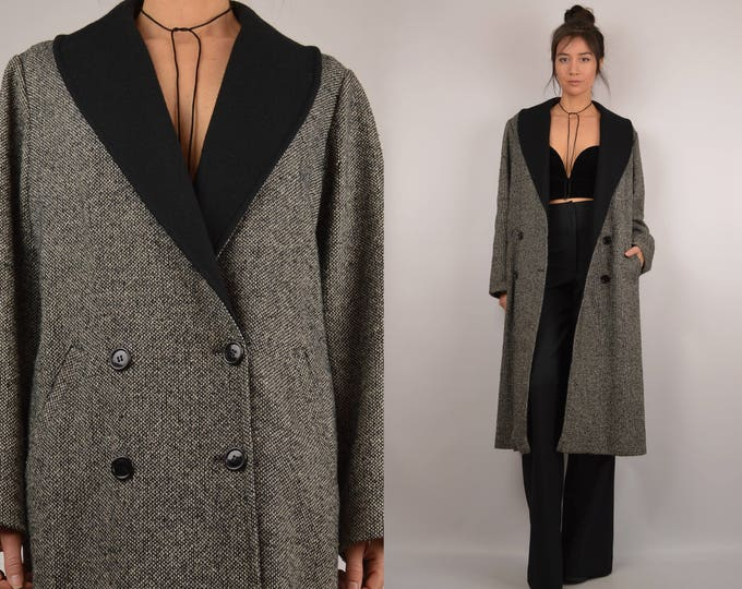 SALE Vintage Tweed Long Coat