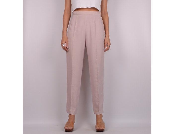 "SALE Vintage Blush Tapered Pant / 26"" High Waist"