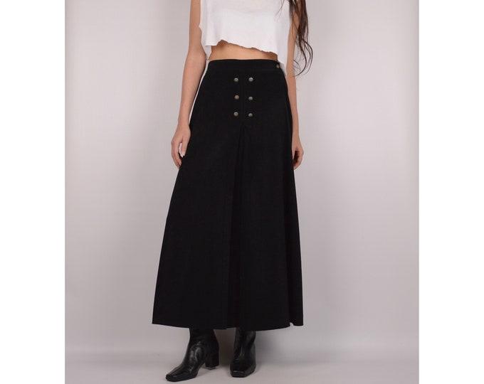 Vintage Black Circle Skirt / S-M