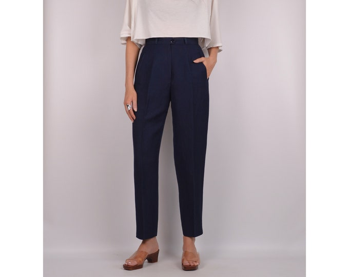 """SALE Vintage Navy Trousers / 26""""W High Waist"""