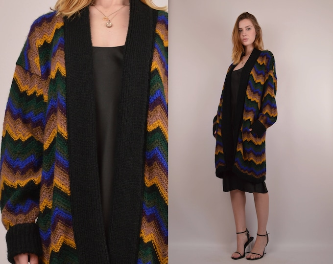 SALE Vintage Oversized Knit Cardigan Sweater