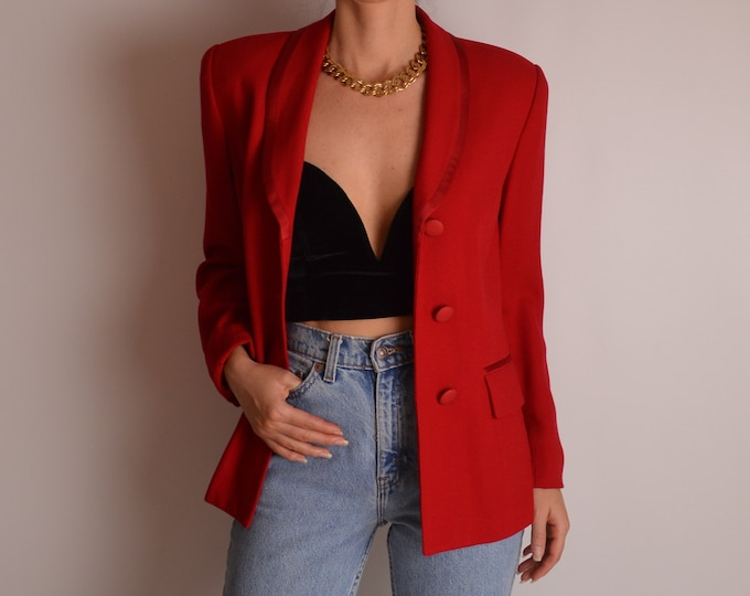 Vintage Red Skirt Suit (S)