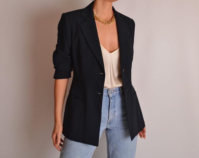 Vintage Minimalist Navy Blazer (S)