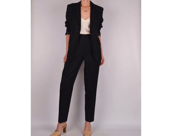 Vintage Black Perfect Fit Pantsuit (S)