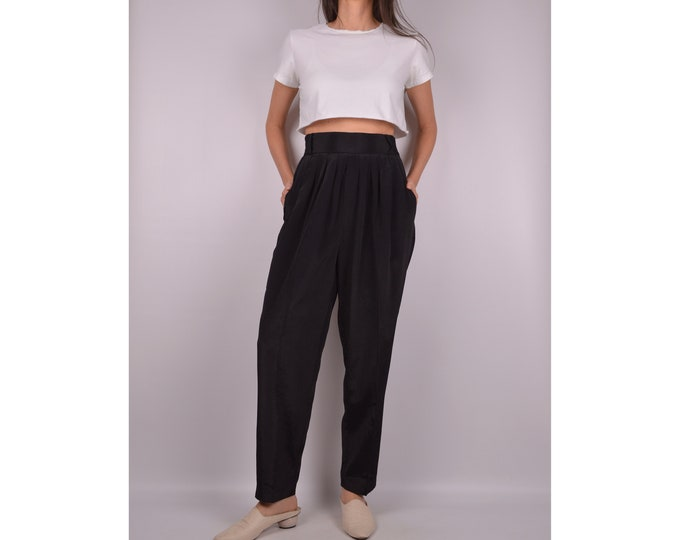 Vintage High Waist Tapered Trousers / S