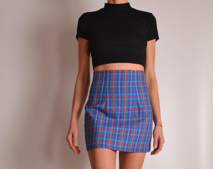 Vintage High Waist Pencil Mini Skirt (XS-S)