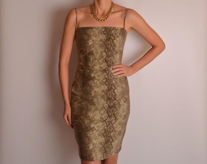 Vintage Snake Print Dress (S)