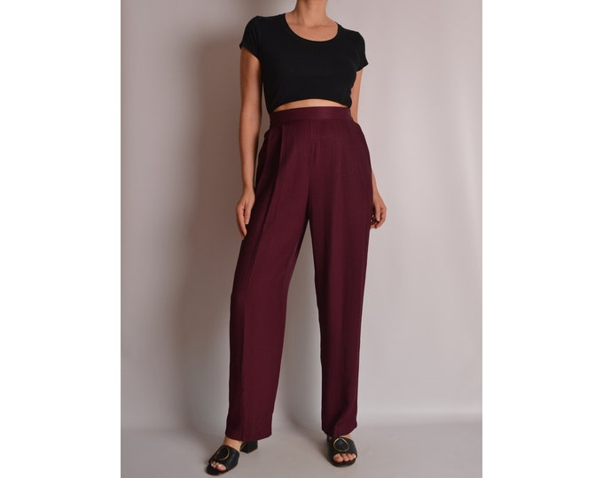 Vintage Plum Lounge Trouser (S-M) High Waist