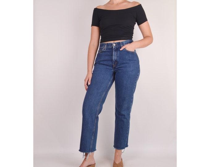 "Vintage LEVI'S 512 Slim Frayed Jeans / 30""W"