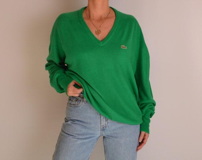 Vintage Izod Lacoste V-neck Sweater (S-L)