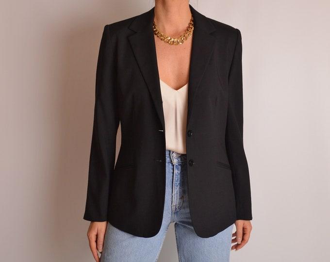 Vintage Minimalist Black Blazer (S-M)